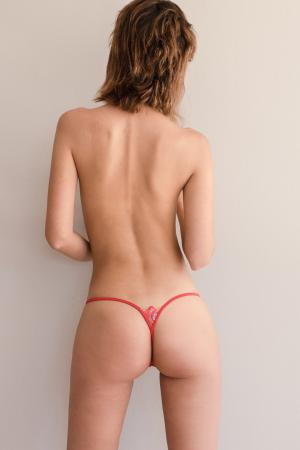 Dazzling Red Luxury Gstring